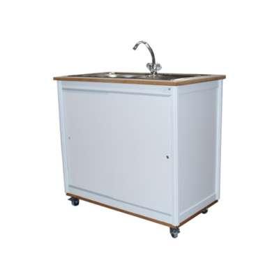 Modul 1 einfach spüle becken links küchenmöbel catering küche katalog orgatech gmbh